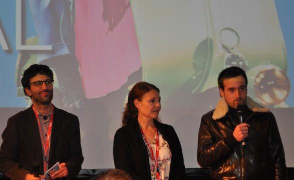 L'équipe du casino a accueilli Grégoire Leprince-Ringuet (à droite) pour débattre avec les spectateurs